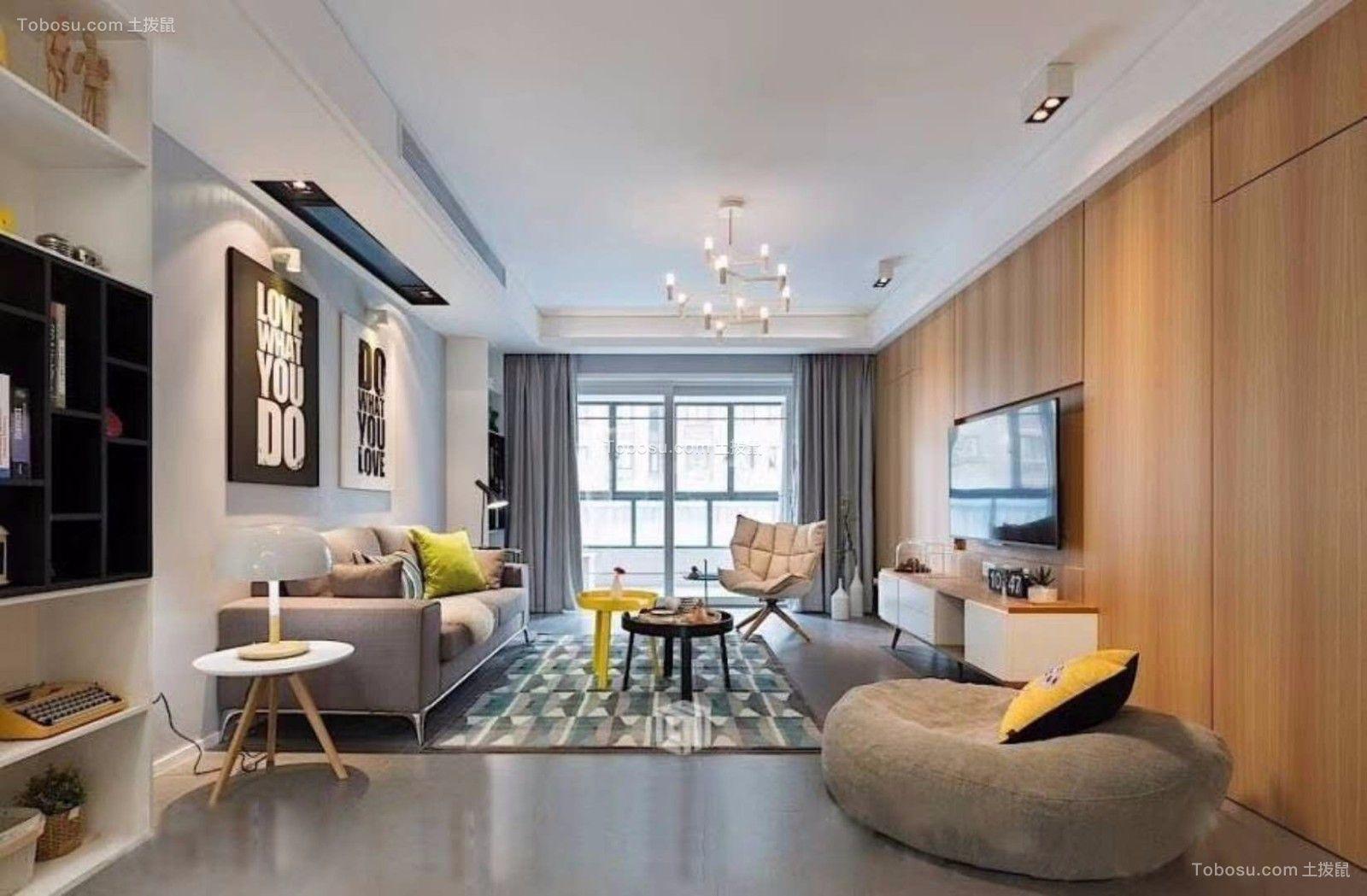 南通海尚家园72平米现代简约风格效果图