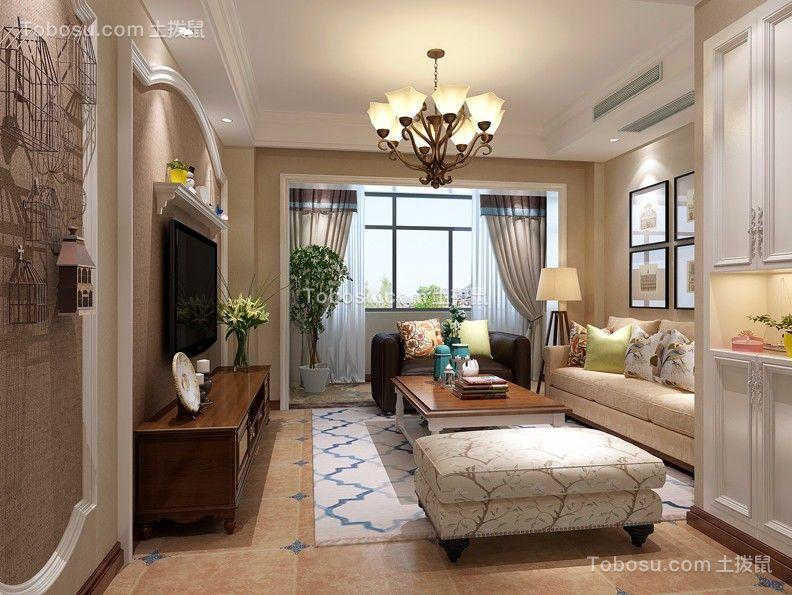 130平方美式风格三房效果图