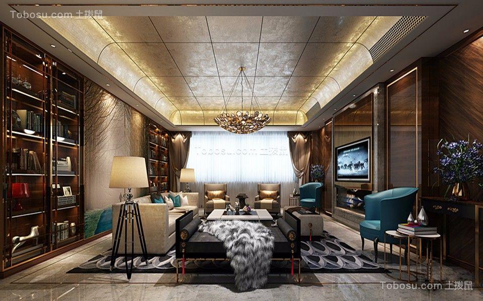 320平港式古典奢华大平层5房3厅3卫新房装修效果图