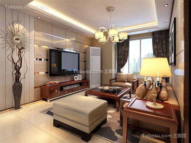 合肥省委大院155平新中式风格四居室装修案例效果图
