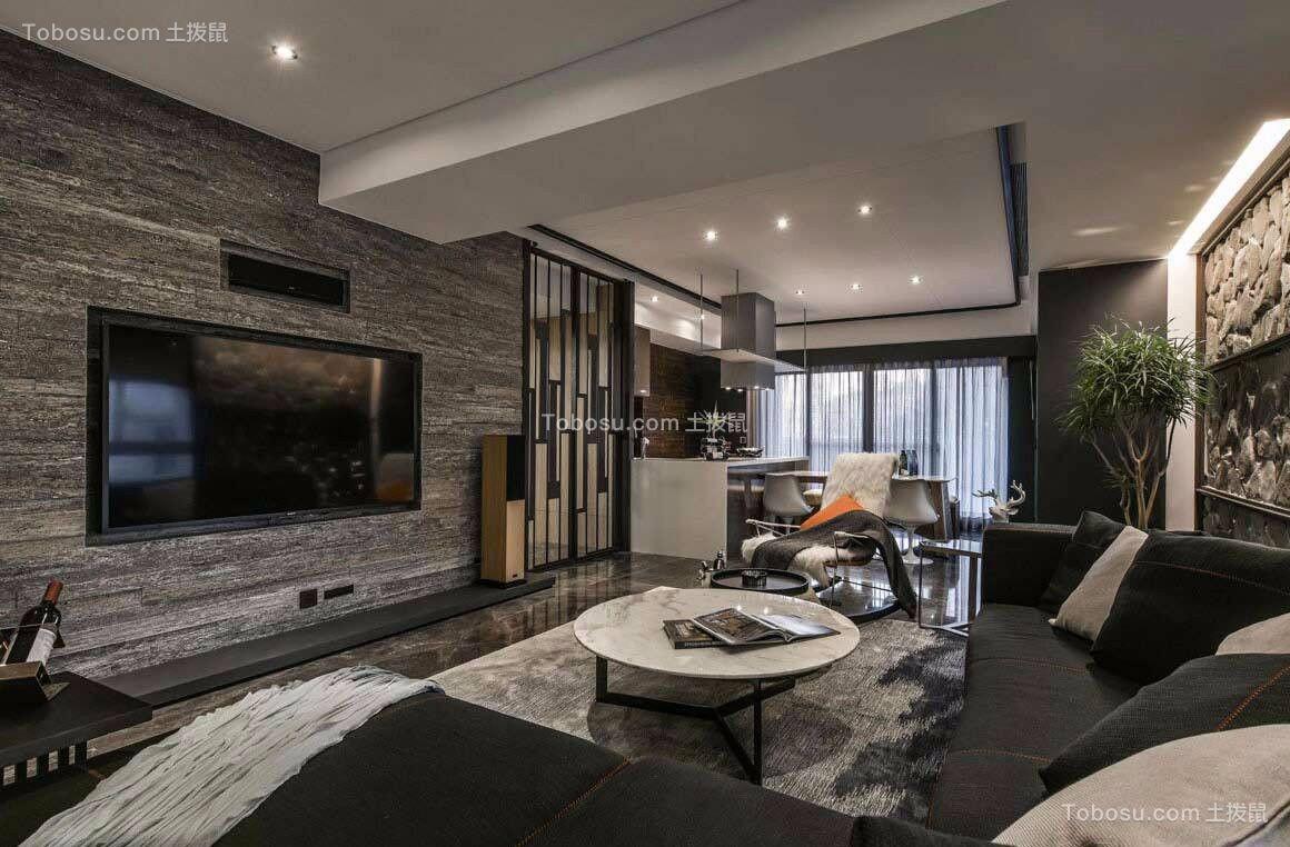 166平米现代风格四房套房装修案例效果图