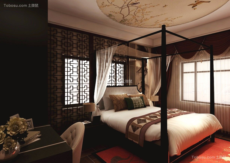 2019新中式卧室装修设计图片 2019新中式窗帘装修效果图片图片