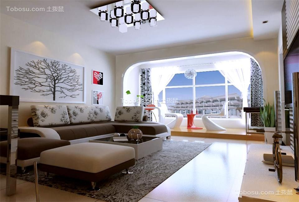 杏林湾一号120平现代风格套房效果图
