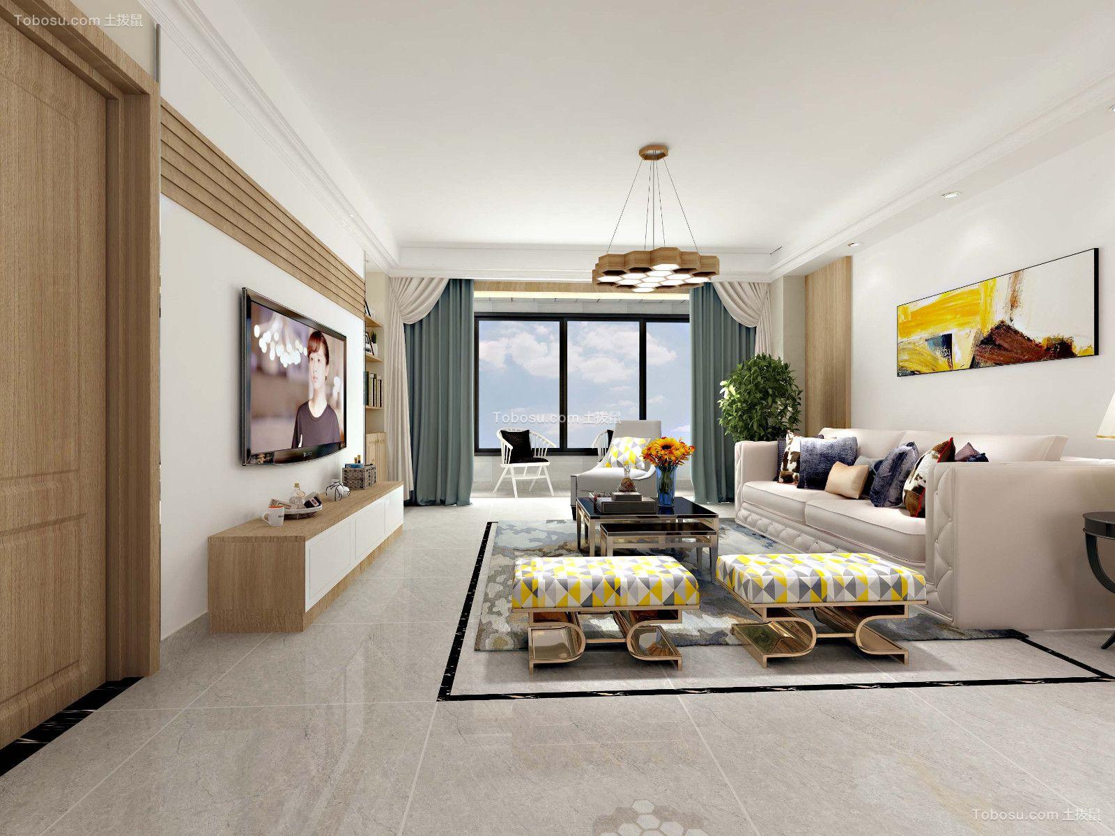 田园风格170平米三室两厅新房装修效果图
