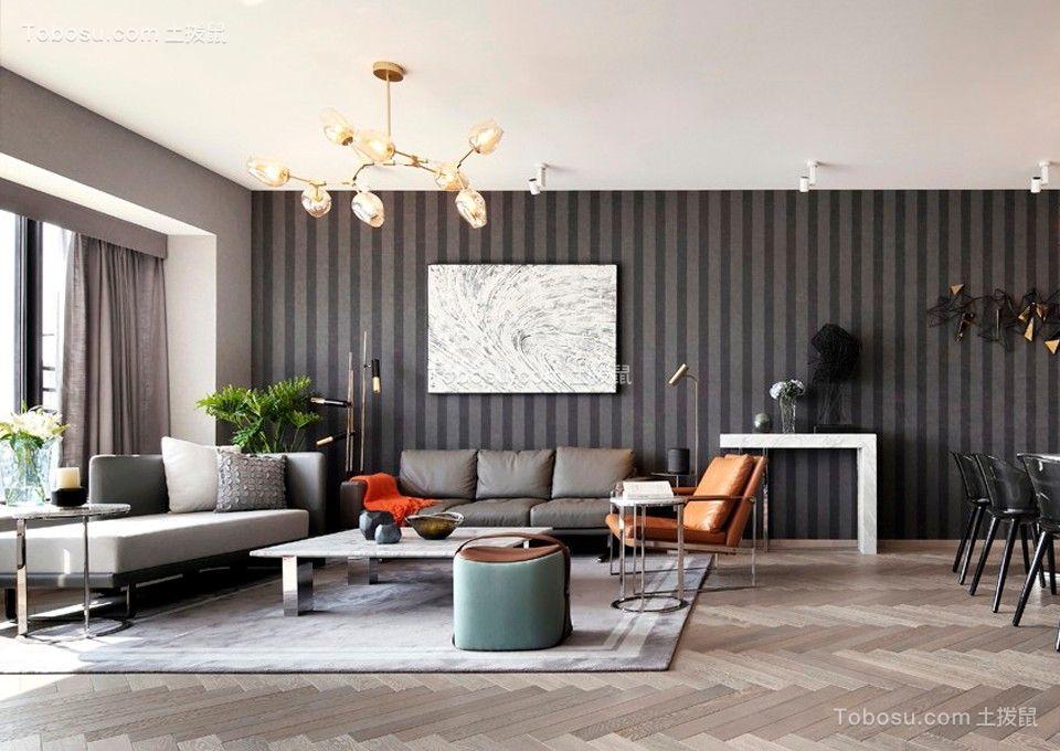 北欧风格60平米两室两厅新房装修效果图