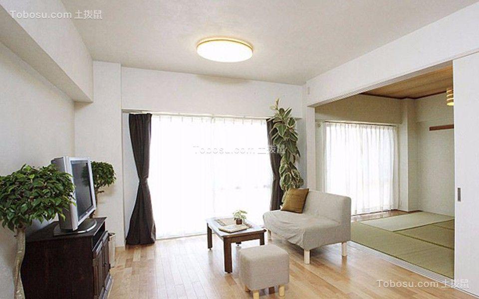 韩式风格130平米三室两厅新房装修效果图