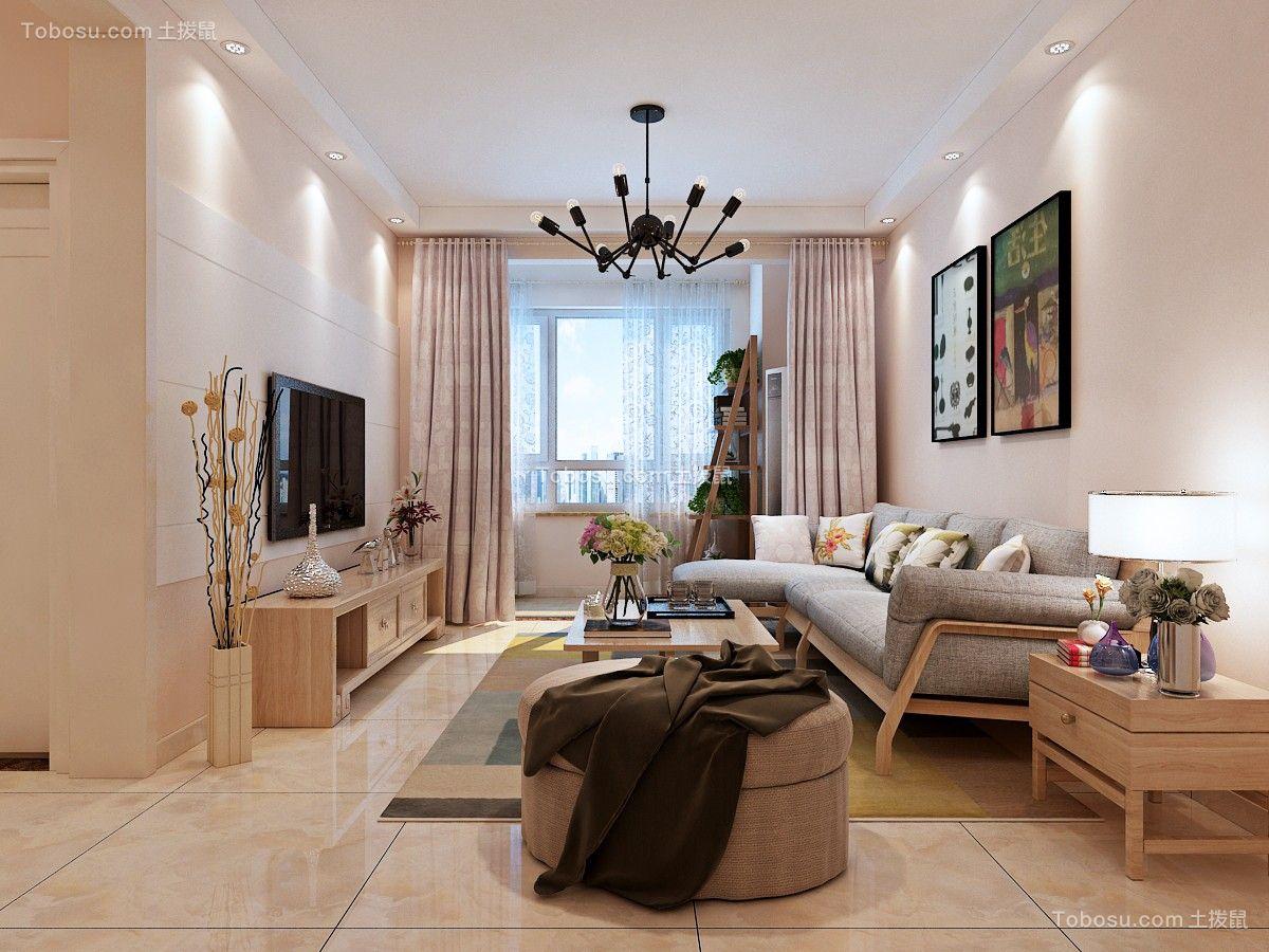 济南茗筑华府95平现代简约二居室设计案例效果图