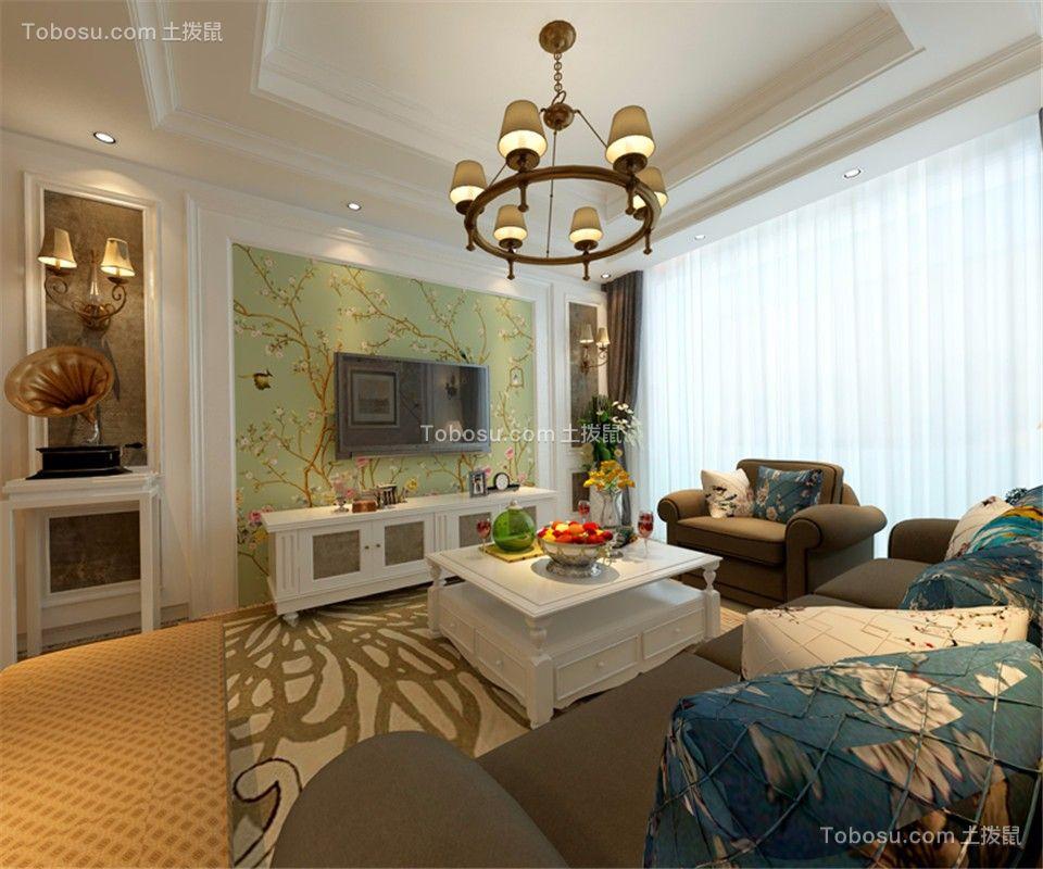 中海学府公馆79㎡简美风格二居室装修效果图