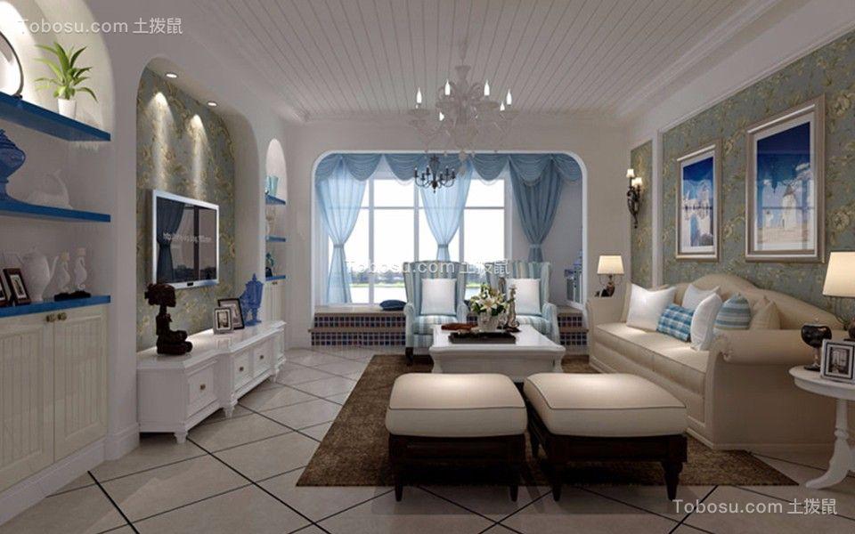 90平米地中海风格2室1厅1卫装修效果图