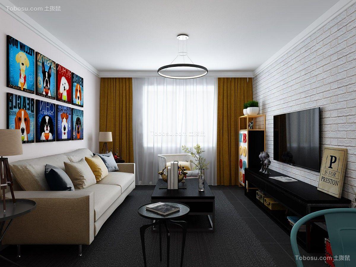 82平现代简约风格两居室装修效果图