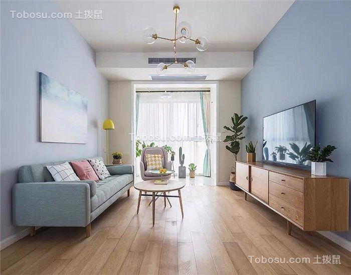 129平简约风格三居室装修效果图
