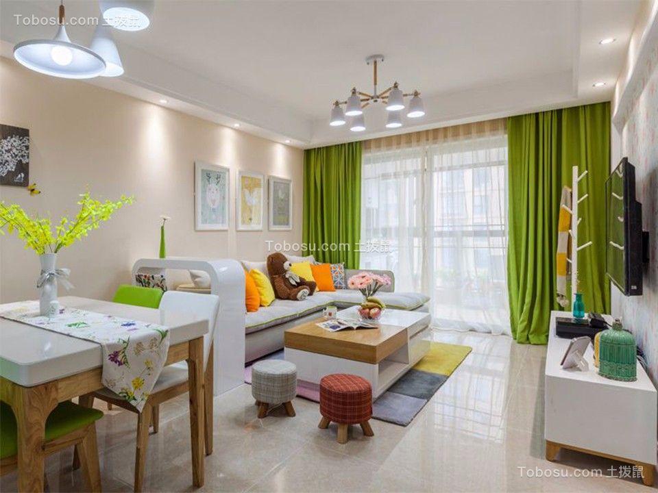 130平米现代简风格三居室装修效果图