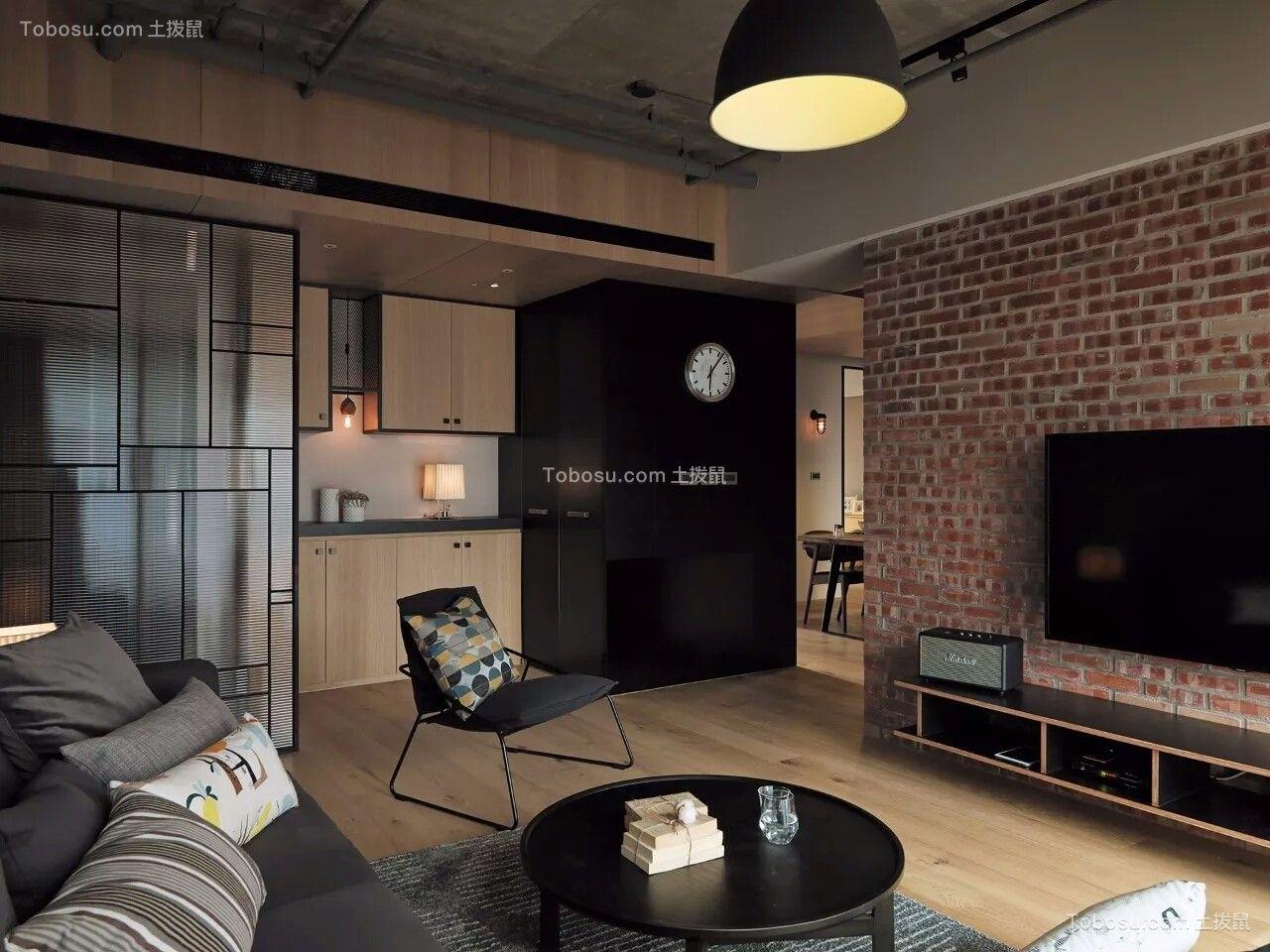 2019简单客厅装修设计 2019简单电视柜装修效果图片