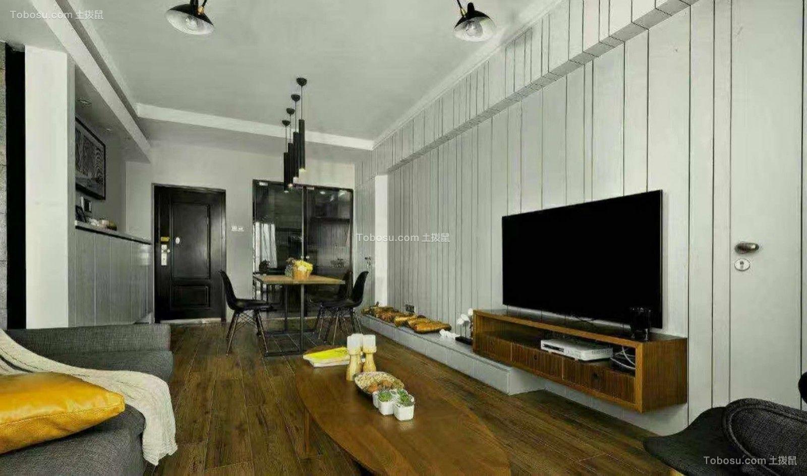 120平方现代风格三居室装修效果图