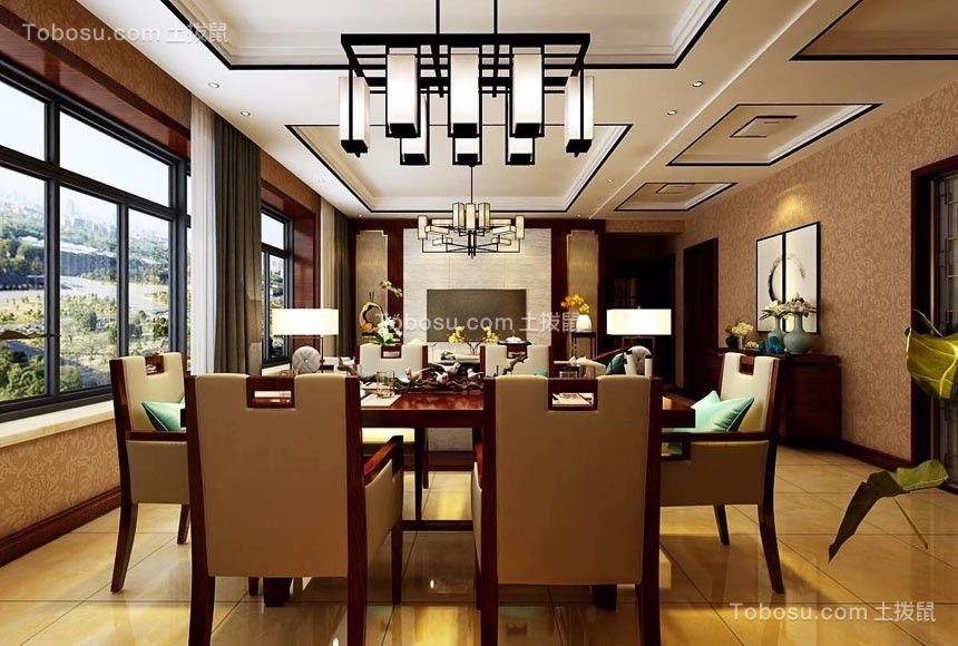 太原西吴御龙庭120平米新中式风格效果图