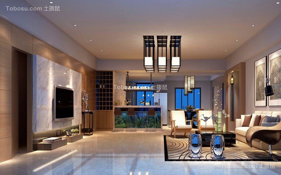 280平现代简约风格3房2厅2卫装修效果图