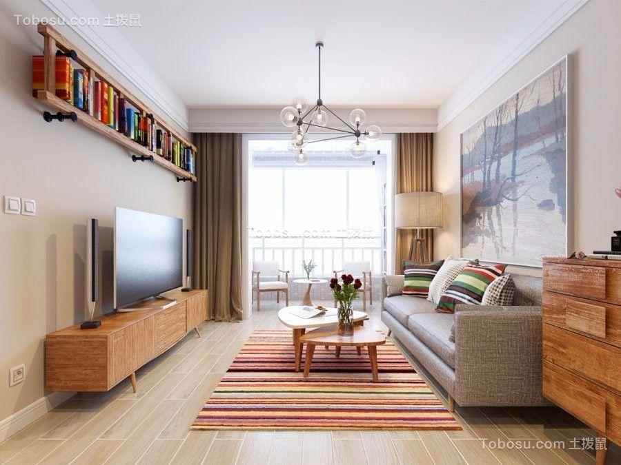 138平北欧风格三居室装修效果图