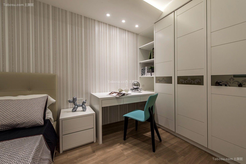 卧室白色书桌现代风格效果图