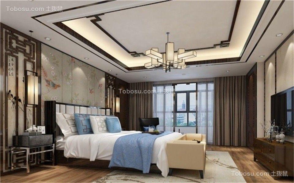 2020中式古典卧室装修设计图片 2020中式古典落地窗图片