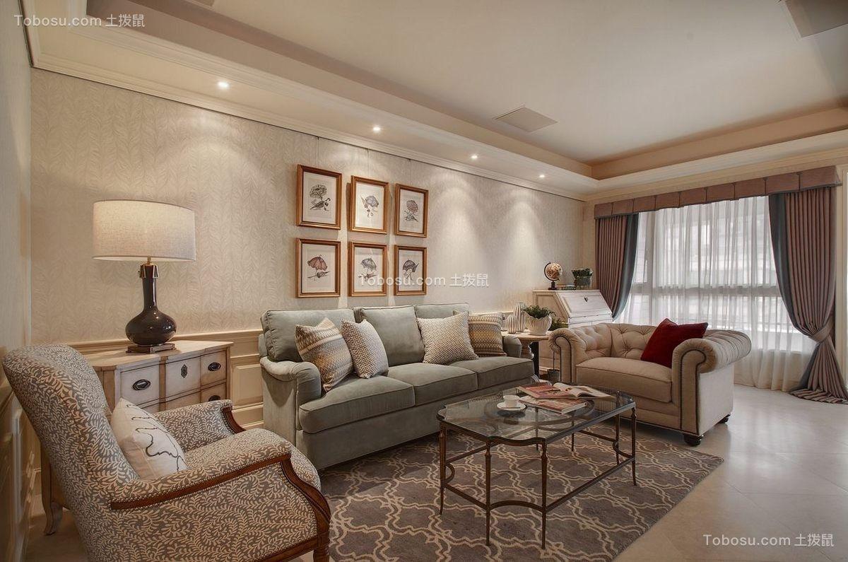 170平美式风格四居室装修效果图