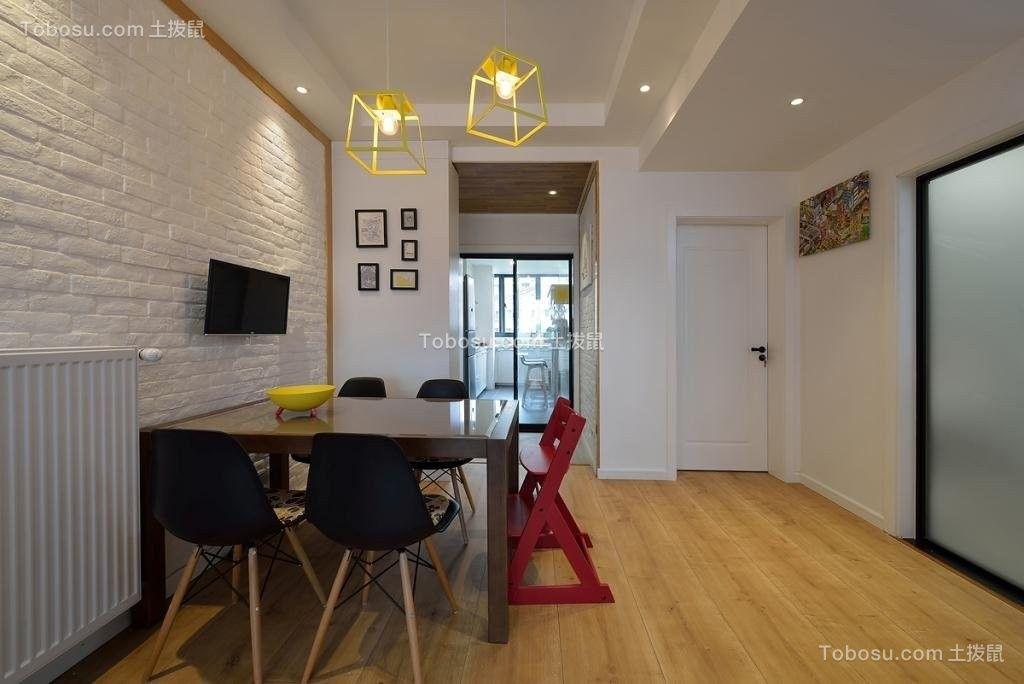 餐厅白色背景墙现代欧式风格装饰效果图
