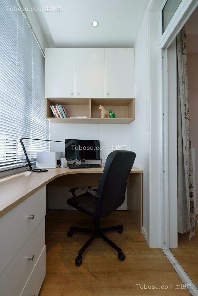 书房白色书桌现代欧式风格装修图片