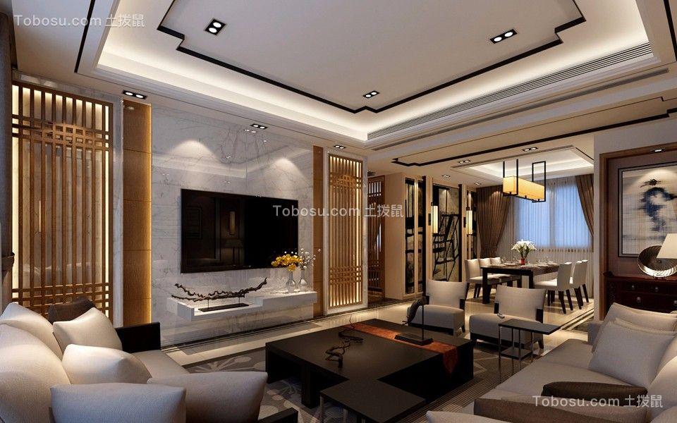 翠湖绿洲花园五居室中式风格装修效果图