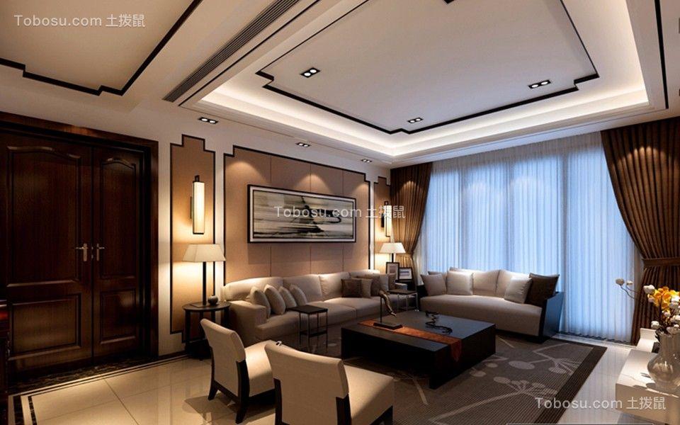 280平中式风格5房3厅装修效果图