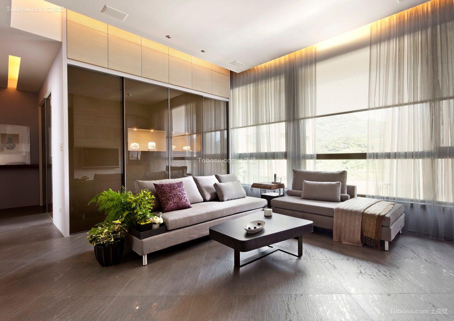 140平后现代风格三居室装修效果图