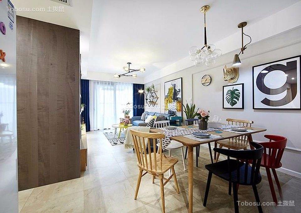 80平现代风格两居室装修效果图