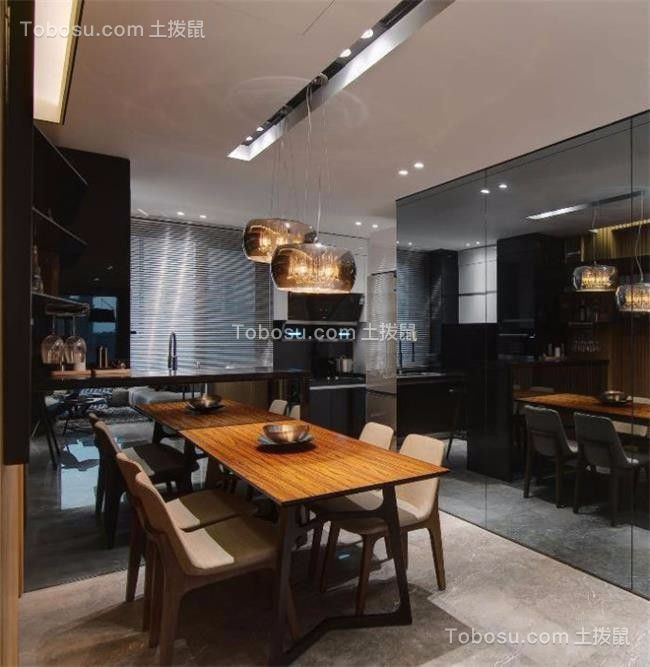 90平现代简约风格两居室装修效果图