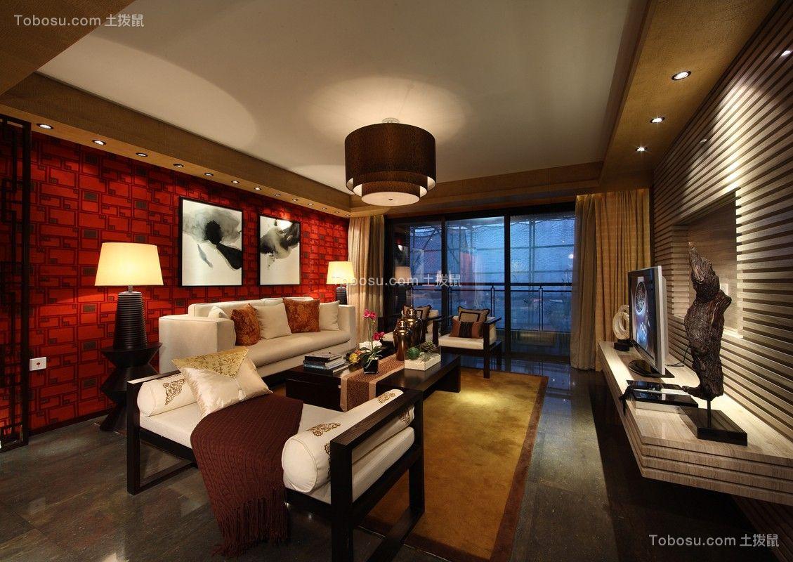 165平新中式风格三居室装修效果图