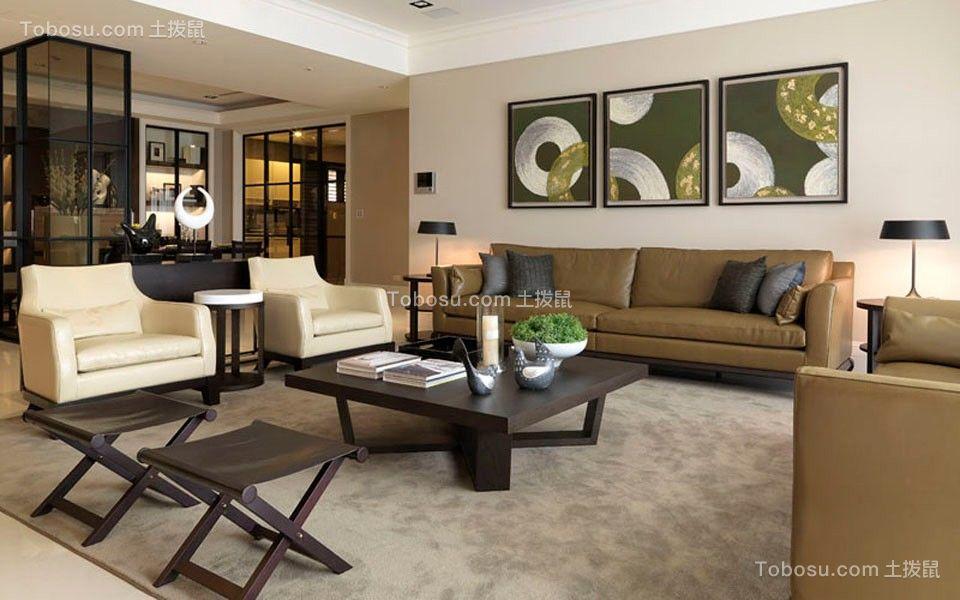 158平后现代风格四居室装修效果图