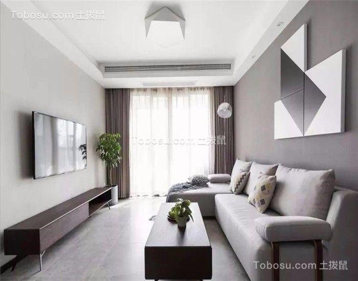 82平美式风格两居室装修效果图
