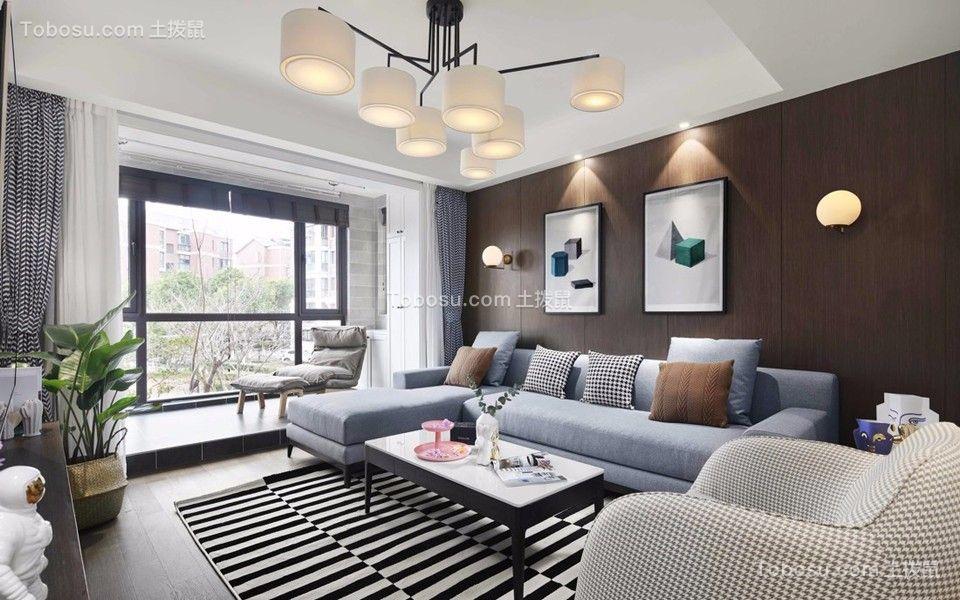 66平北欧风格二居室装修效果图