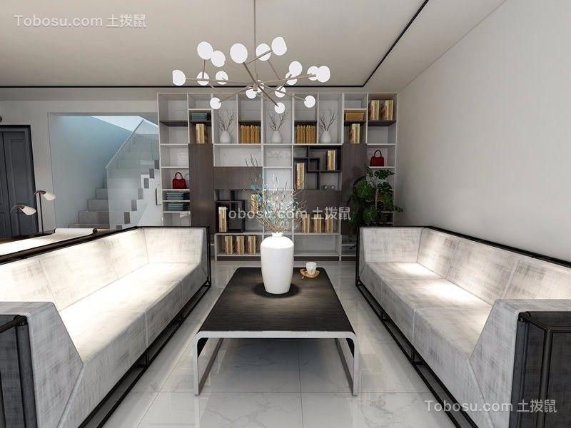 70平簡歐風格兩居室裝修效果圖