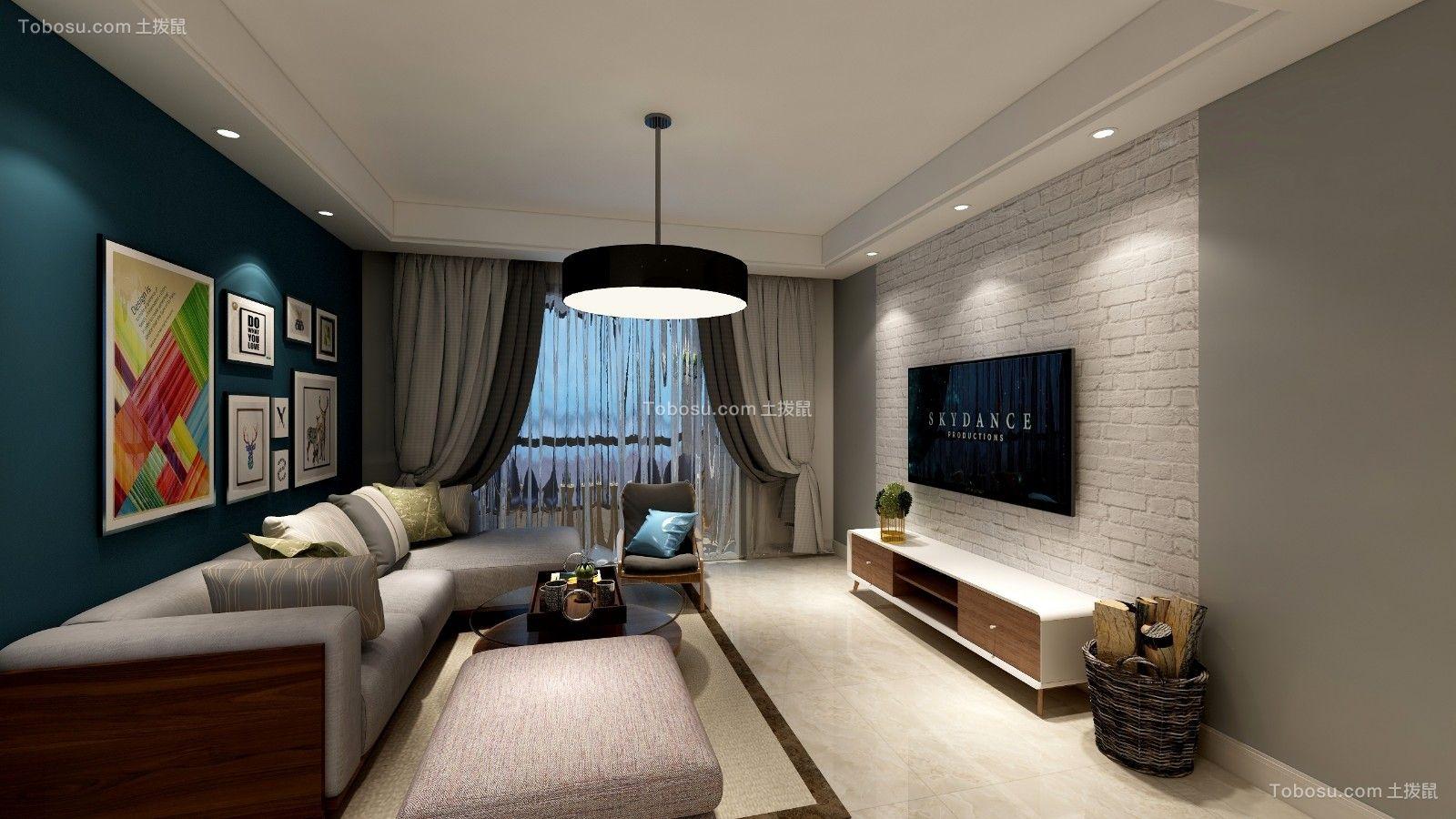 90平北欧风格三居室装修效果图