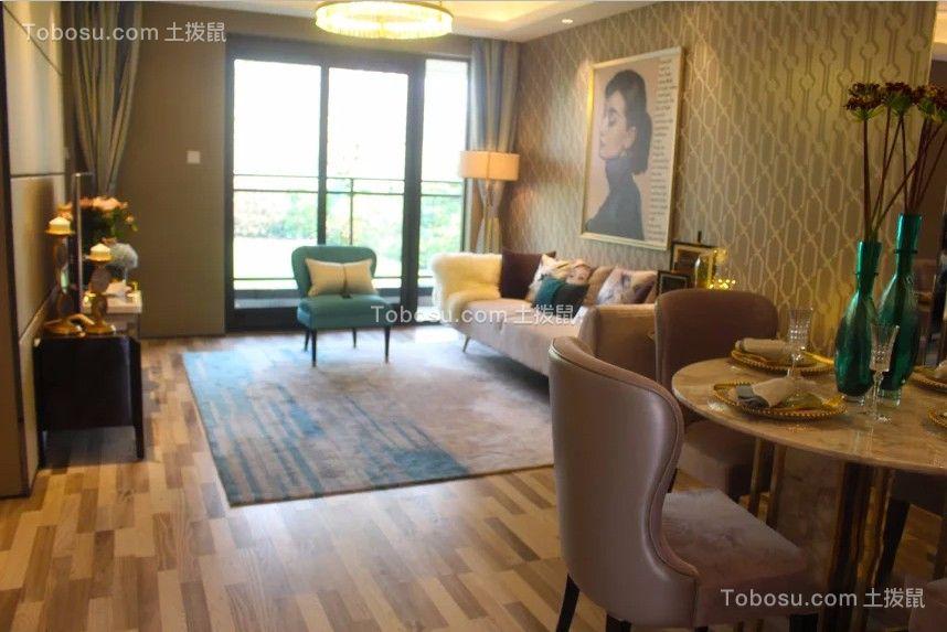125平美式风格三室两厅两卫装修效果图