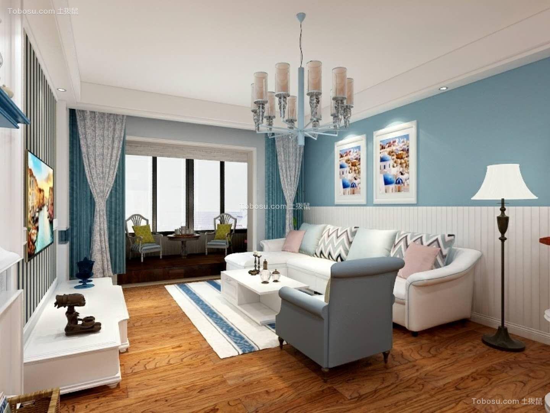 170平地中海风格三居室装修效果图