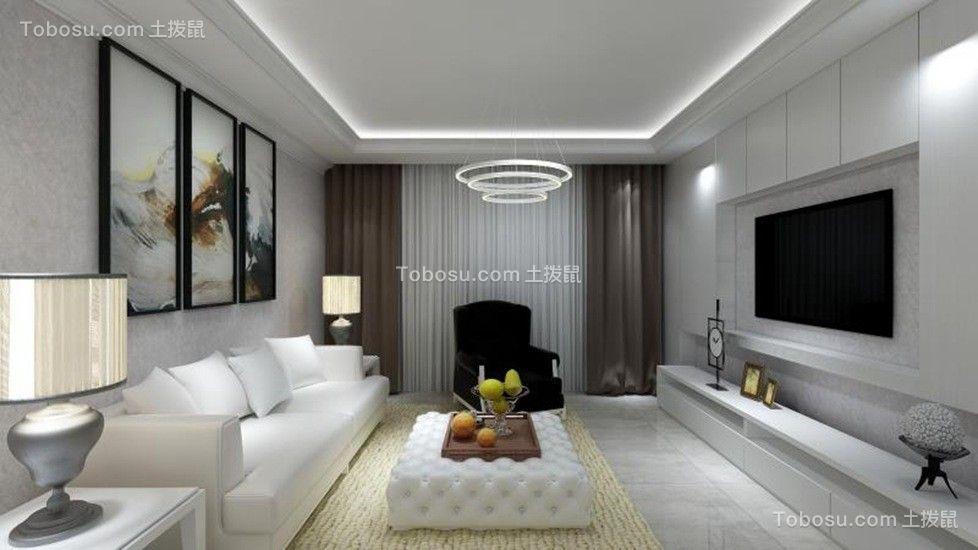 170平现代简约风格四居室装修效果图