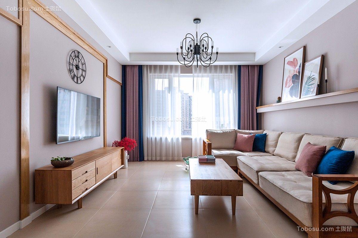 109平北欧风格两居室装修效果图