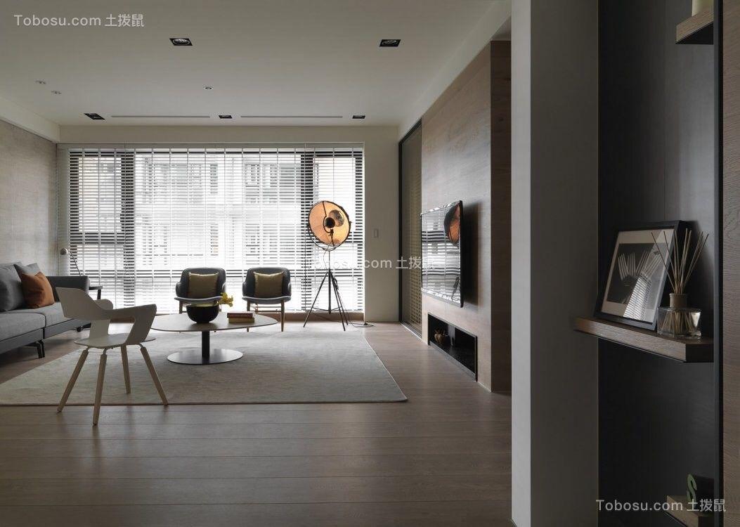 98平米北欧风格三居室装修效果图