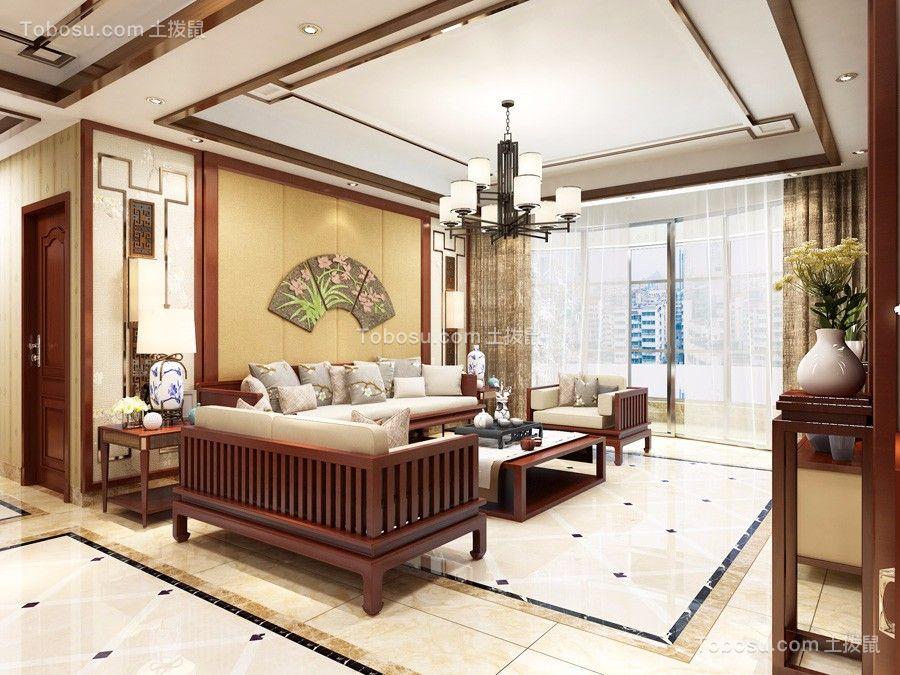 170平中式风格四居室装修效果图