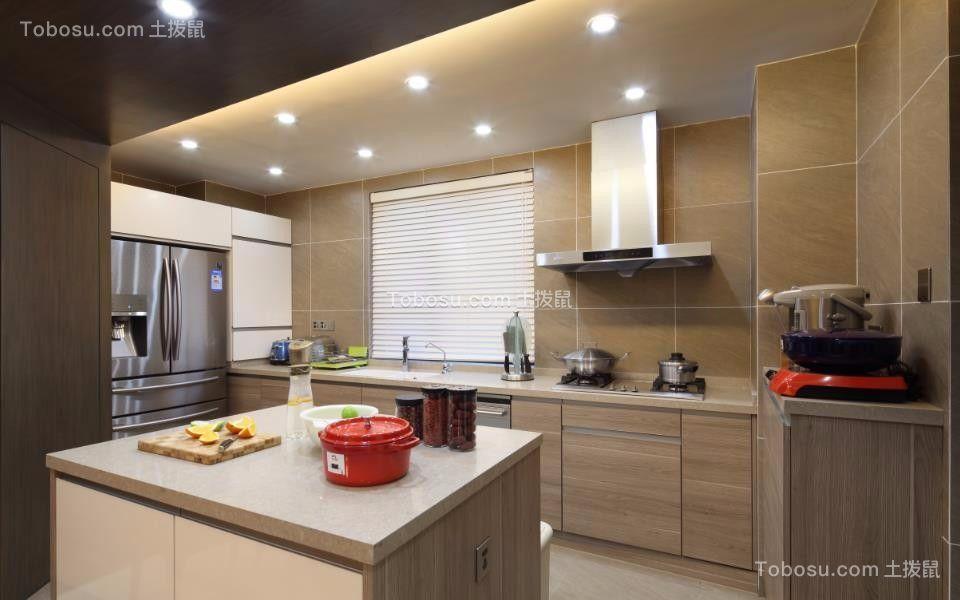 2018中式厨房装修图 2018中式橱柜装修效果图片