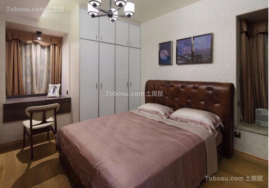 卧室白色衣柜中式风格装潢设计图片