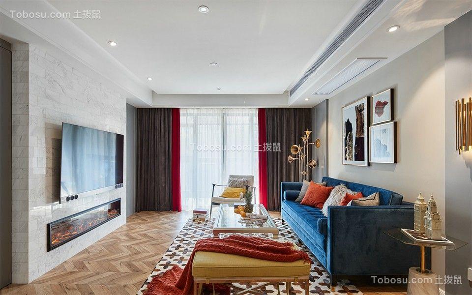 130平米现代简约风格三居室装修效果图