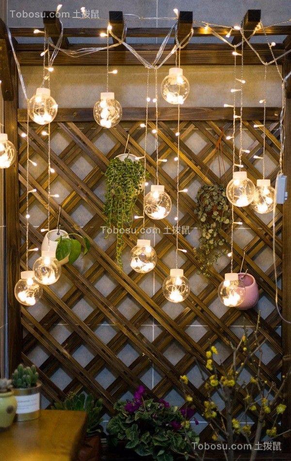 阳台咖啡色细节新中式风格装潢设计图片