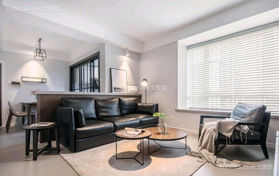 100平米北欧风格三居室装修效果图