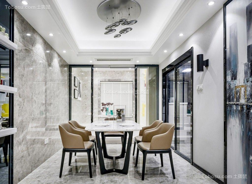 100平米现代风格两居室装修效果图