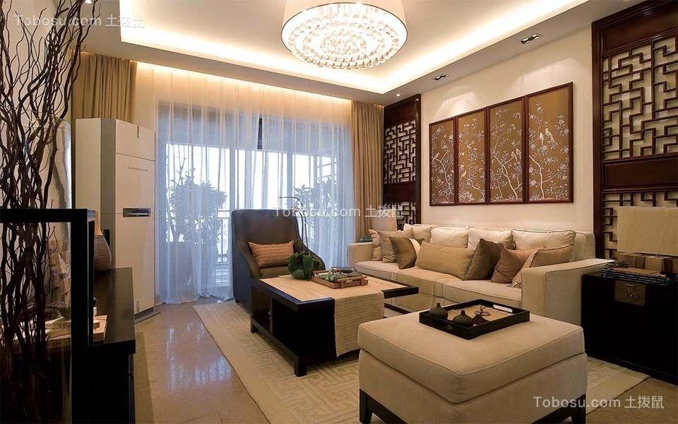 100平米中式风格三居室装修效果图